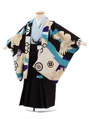 753レンタル(3歳男袴)2130 ジャパンスタイル多色鷹ブルー
