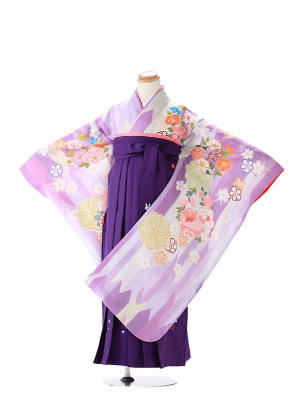 卒園式 ジュニア袴(女の子) KAGURA 紫7284
