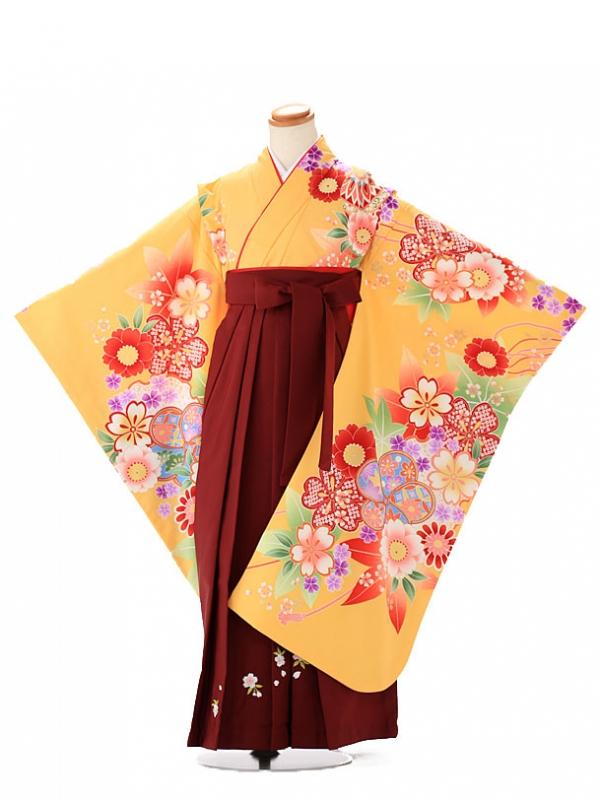 卒園式 ジュニア袴(女の子) maomao 黄色 7268