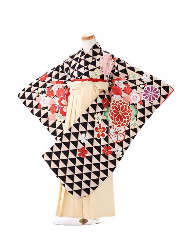 卒園式 ジュニア袴(女の子) 式部浪漫 黒 7262