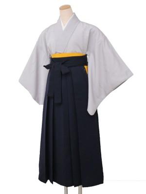 卒業袴レンタル 2807無地グレー