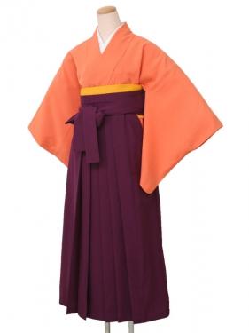 卒業袴レンタル 2535オレンジサヤ型