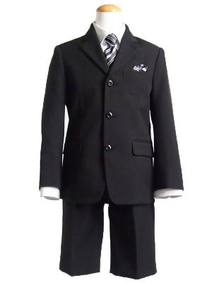 【男児スーツ110cm】7点セット三つ釦ストライプ
