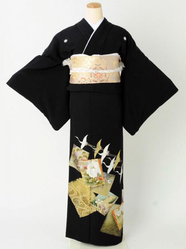 留袖119色紙飛び鶴