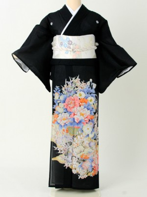 留袖絽201ボタン花かご
