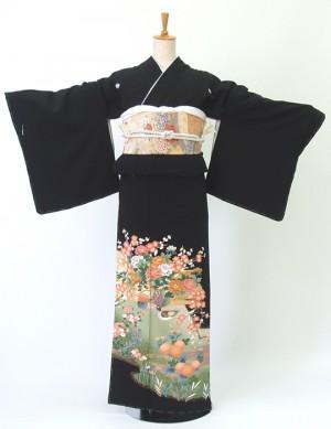 留袖167オシドリ流水菊