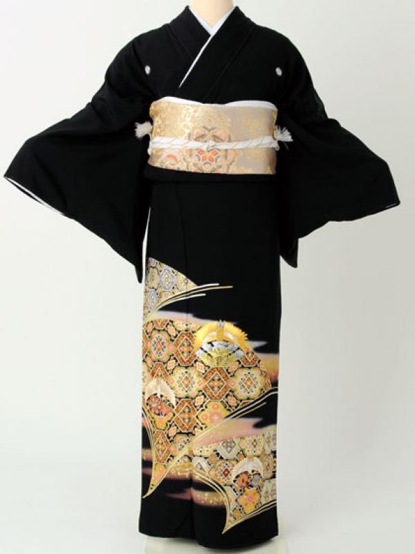 留袖192金刺繍鶴