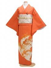 色留袖 オレンジ 0012