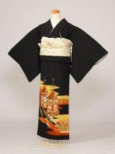 黒留袖0008のし山鉾(化繊)