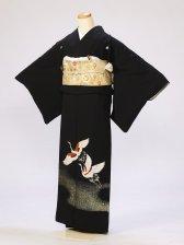 黒留袖0271金粉鶴(化繊)
