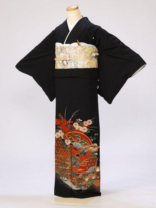 黒留袖0291楓五所解(化繊)