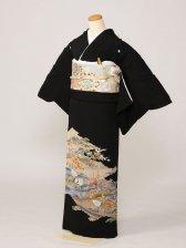 黒留袖0171立鶴御所解(正絹)