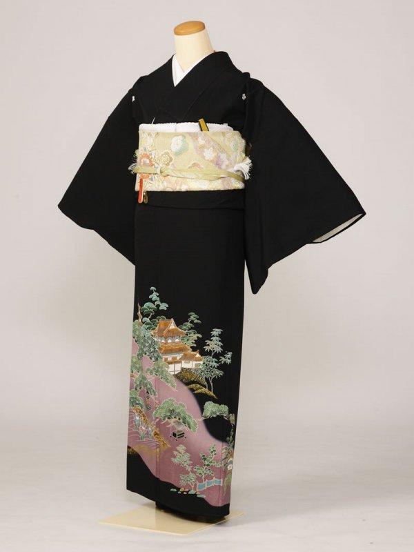 黒留袖0161城松中庭(化繊)