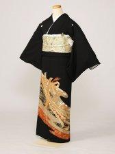 黒留袖0223束のしめ金線の水輪(化繊)