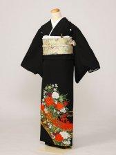 黒留袖0211橋 花車(化繊)