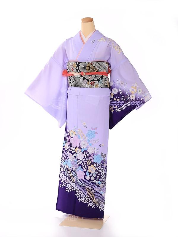 単衣 紫 幻華の辻が花 kt7018
