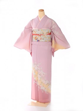 単衣 ピンク 可愛桜 kt7017