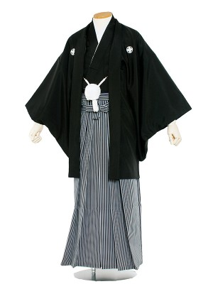 男性用袴レンタル 紋服9号黒紋付/9001