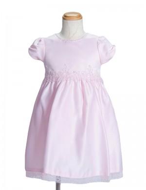 ピンク100cm/ビーズ刺繍のワンピース861