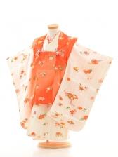753レンタル(3歳女)3012オレンジ扇面花とた