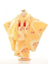 753レンタル(3歳女)3044 NO29うす黄色花紋