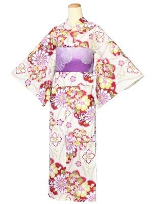 ワンタッチ 浴衣(XL 168-173cm)ベージュ