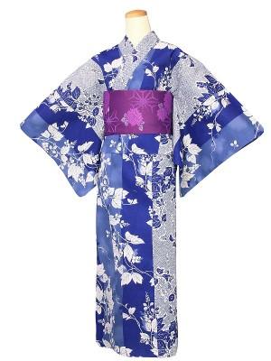 ワンタッチ 浴衣(L 162-167cm)紺