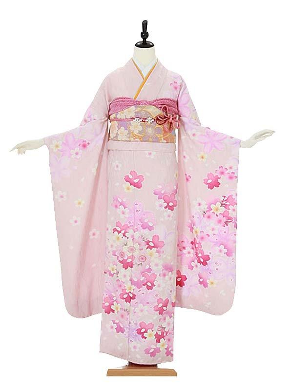振袖0063 ピンク 桜