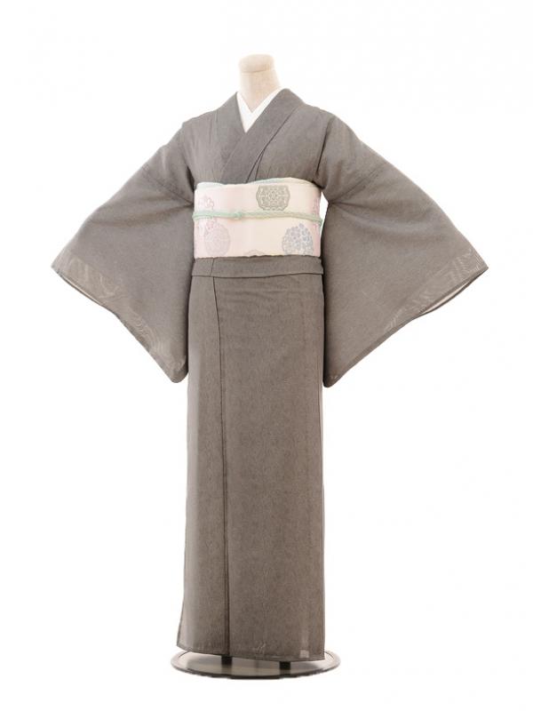 夏小紋594 黒 鮫文様(化繊 絽 夏)