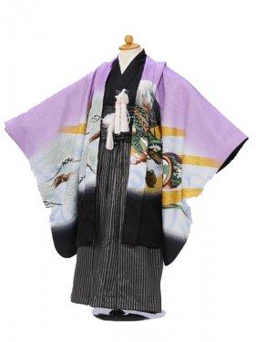753七五三(5歳男)5820紫 鷹/縞袴