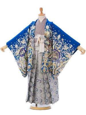 七五三(5歳男)5005ブルー 鷹 白系袴