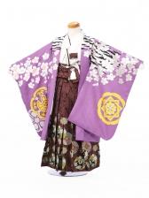 七五三5歳5870花わらべ 紫 虎×桜吹雪
