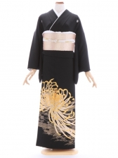 黒留袖363乱菊金刺繍