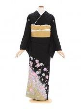 黒留袖520桜花ストーン付き(ミク)