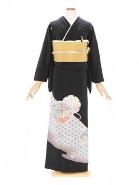 黒留袖282松川菱に雪輪模様
