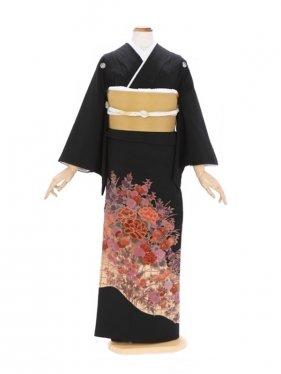 黒留袖98金箔に四季の花(ミク)