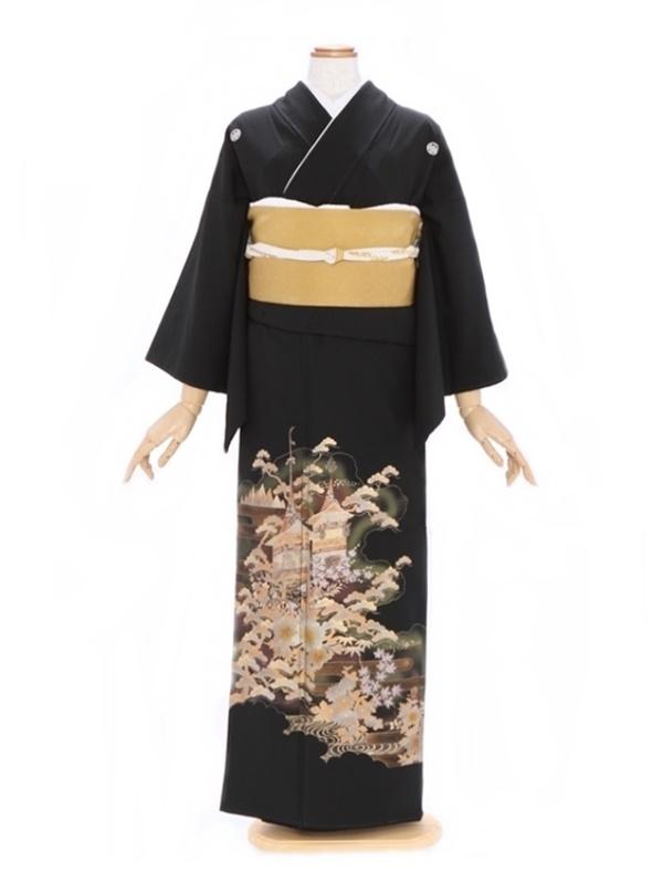 黒留袖228金彩雲どりぼたん松(ミク)