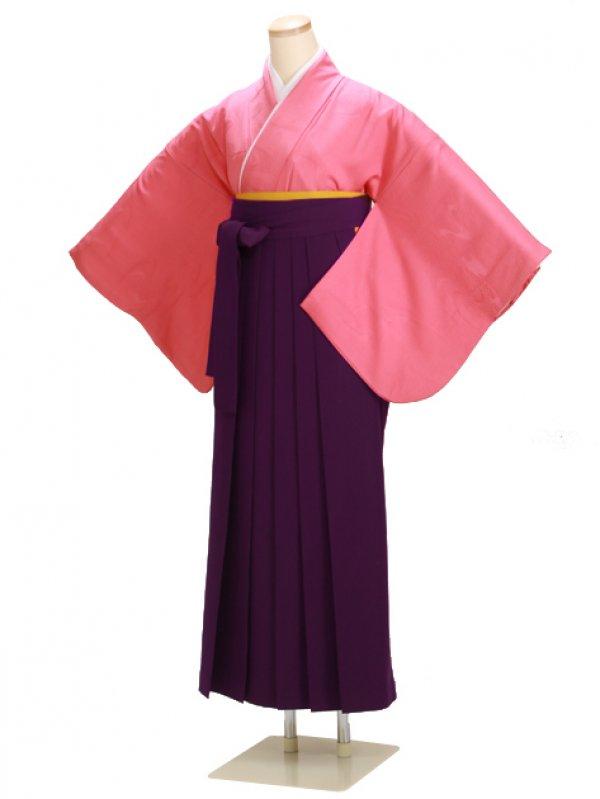 ジュニア袴 卒業式 ピンク DD61【身長150cm位】