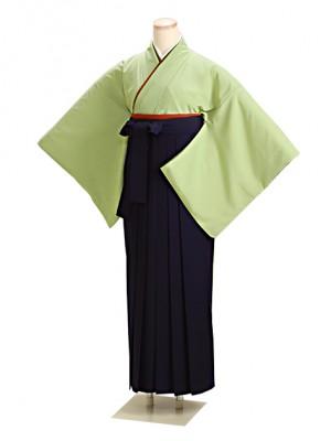 卒業式袴 グリーン L105 紺袴【身長150cm位】