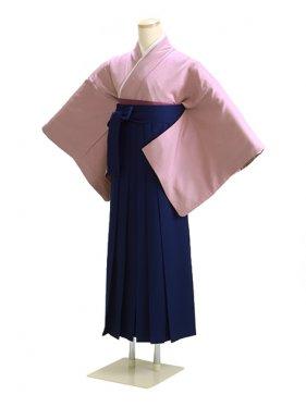 卒業式袴 正絹 藤紫 L101【身長160cm位】