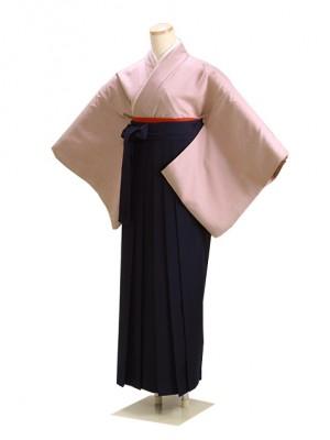 卒業式袴 正絹 薄紫 L102 紺袴【身長150cm位】