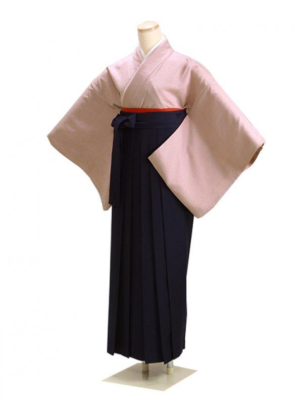 卒業式袴 正絹 薄紫 L102 紺袴【身長155cm位】