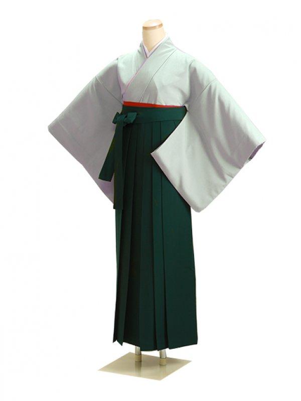 卒業式袴 ブルーグレー L107 緑袴【身長160cm位】