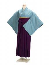 卒業式袴 ブルー L106【身長155cm位】