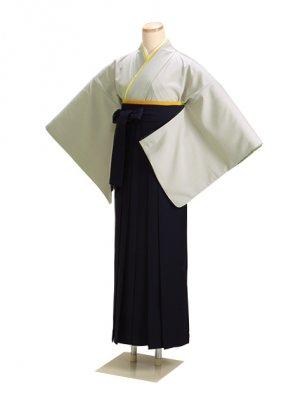 卒業式袴 グレー L108 紺袴【身長160cm位】