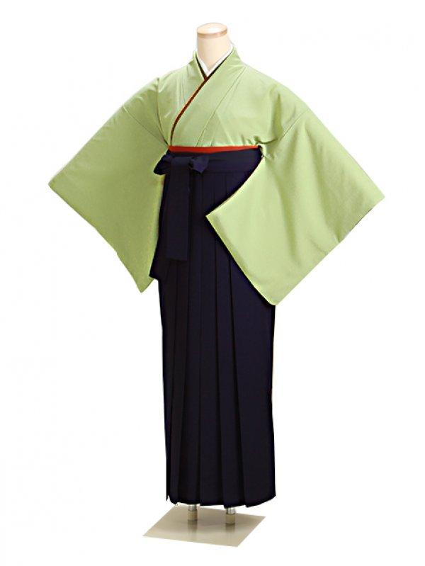 卒業式袴 グリーン L105 紺袴【身長155cm位】