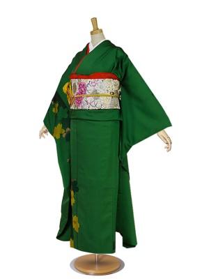 振袖 緑/グリーン/green No.021