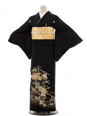夏黒留袖th017宮廷〔単衣〕