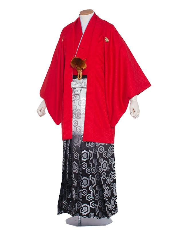 男性用袴 紋服4号赤色柄袴/4R00