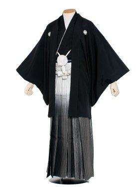 男性用袴 紋服4号新郎黒紋付ほかし/4-00